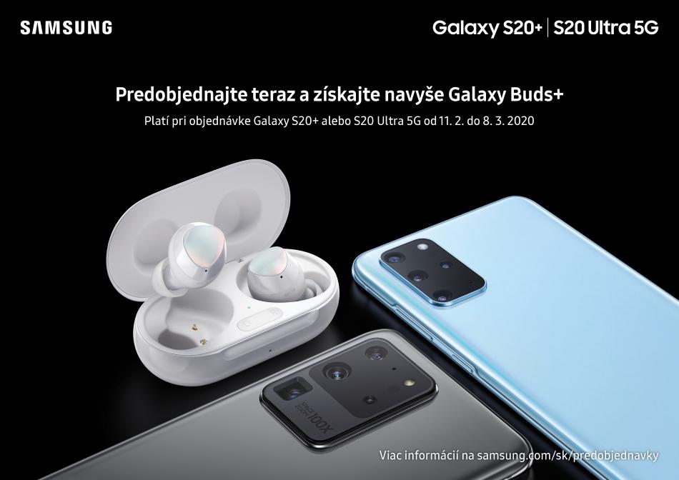 Predobjendávkový bonus ku Samsung Galaxy S20 Plus a S20 Ultra