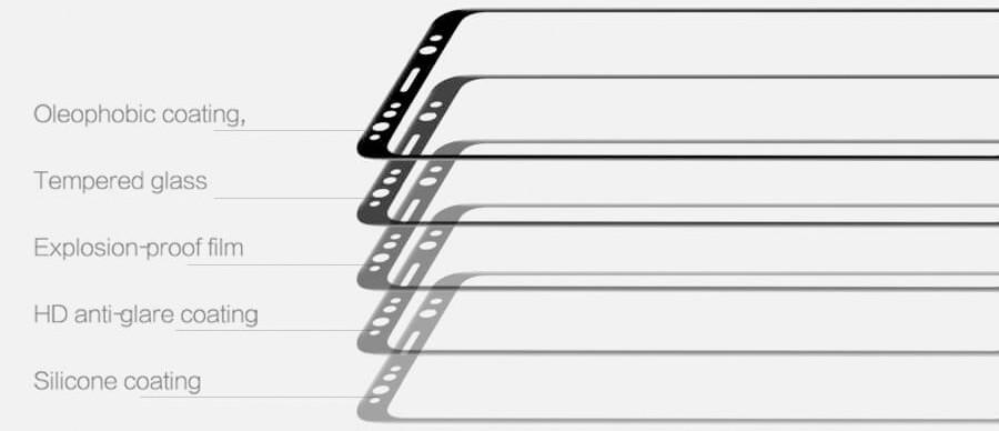 sklo Nillkin 2.5D CP+