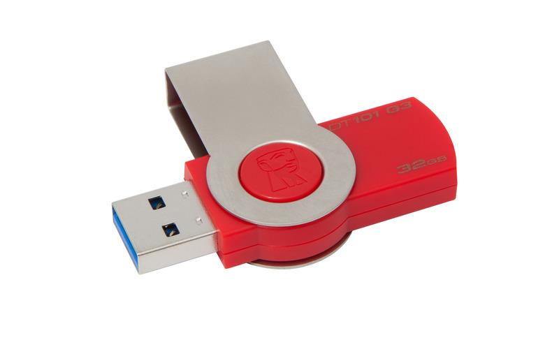 32GB Kingston USB 3.0 DataTrav. 101 Gen 3 červený
