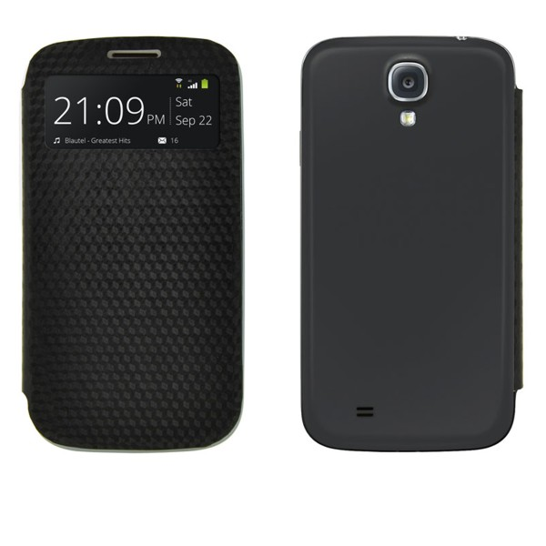 4-OK Battery Cover Flip Samsung Galaxy S4, black