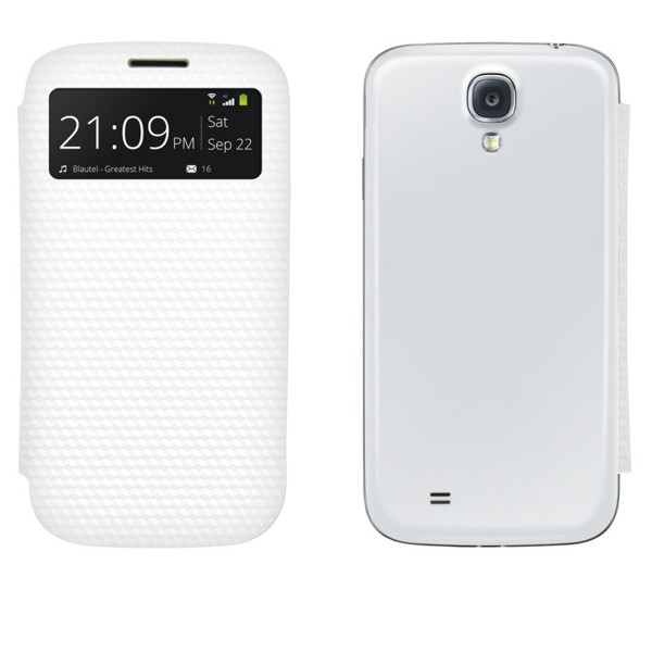 4-OK Battery Cover Flip Samsung Galaxy S4, white