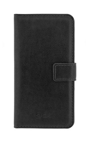 "4-OK BOOK WALLET UNIVERSAL WITH POCKET CARD - SIZE XL 6"" BLACK"