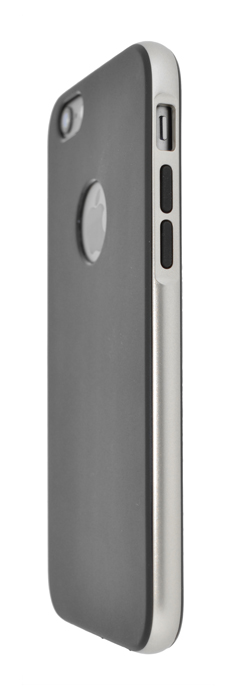 4-OK COVER CHROME BLACK FOR    IPHONE 6 - GREY- SILVER