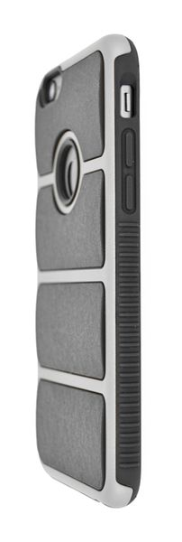 4-OK COVER CROME IRON FOR IPHONE 6 BLACK - SILVER