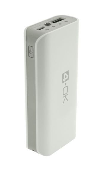 4-OK POCKET POWER BANK 4.0 - 4000 MAH - WHITE/GREY