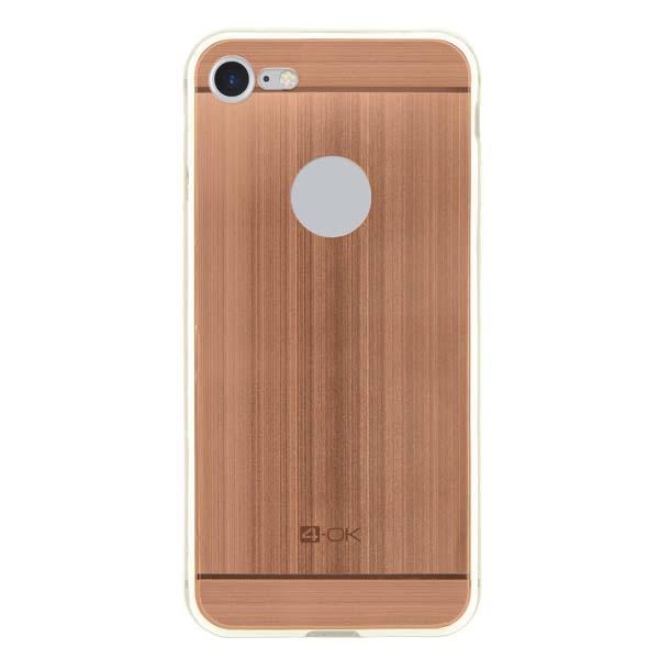Puzdro 4-OK TPU Metal Case Pre iPhone 7, ružovo-zlatá