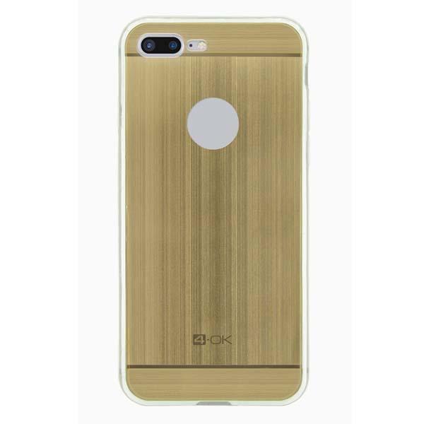 Puzdro 4-OK TPU Metal Case Pre iPhone 7 Plus, zlatá