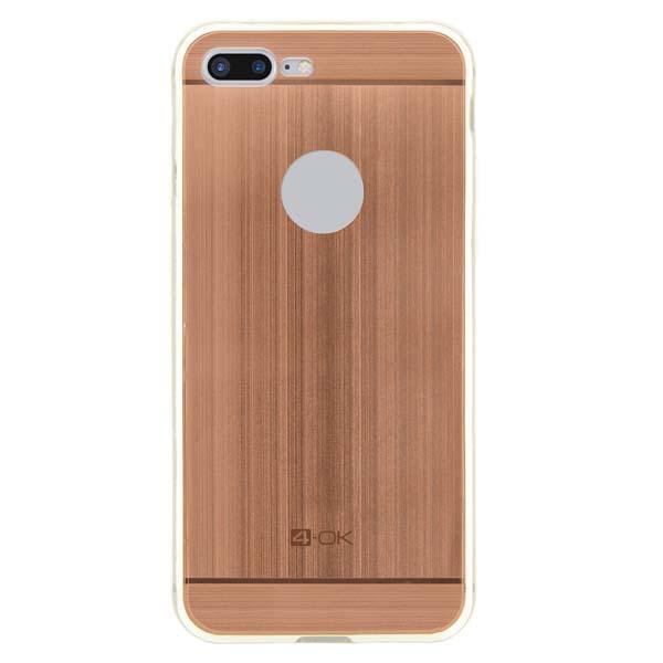 Puzdro 4-OK TPU Metal Case Pre iPhone 7 Plus, ružovo zlatá