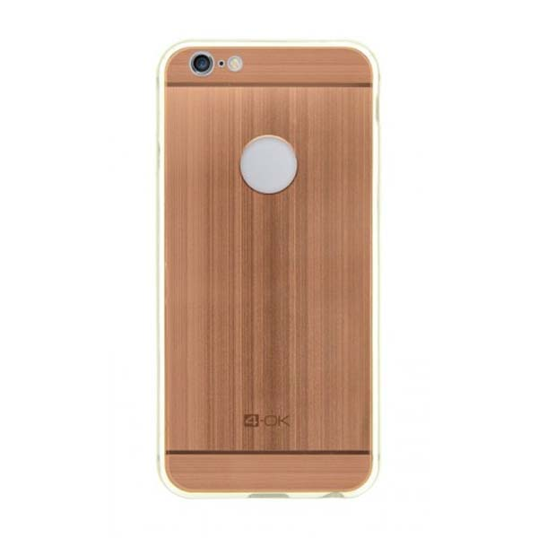 4-OK Metal Cover for iPhone 6, rose gold MTIP6R