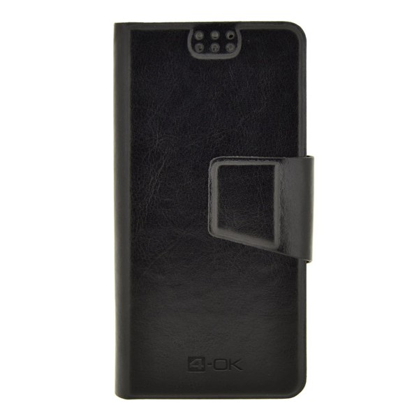 4-OK UNIBOOK CASE SIZE NOTE 3 a �al�ie smartf�ny, BLACK COLOR
