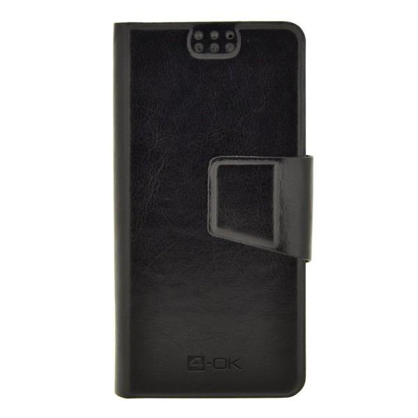 4-OK UNIBOOK CASE SIZE TS4 pre Váš smartfón, BLACK COLOR