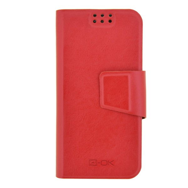 4-OK UNIBOOK CASE SIZE TS4 pre V� smartf�n RED COLOR