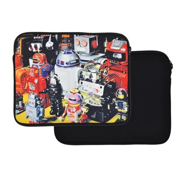 "4-OK Vintage Tablet Sleeve do 10"", Toy Robots"