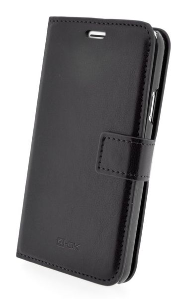 4-OK Wallet with pocket card for Samsung Galaxy S5 Black Color