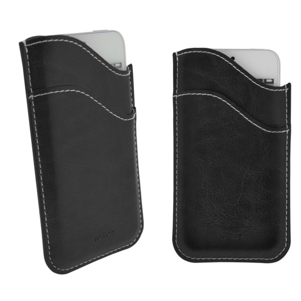 4-OK Wave Case, Black, veľkosť iPhone 5 (124 x 59 x 8 mm)