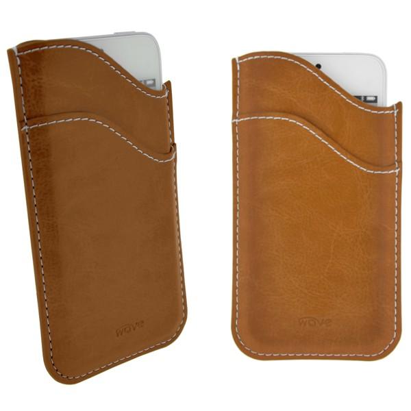 4-OK Wave Case, Brown, veľkosť iPhone 5 (124 x 59 x 8 mm)