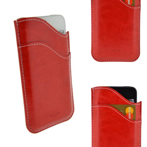 4-OK Wave Case, Red, veľkosť iPhone 5 (124 x 59 x 8 mm)