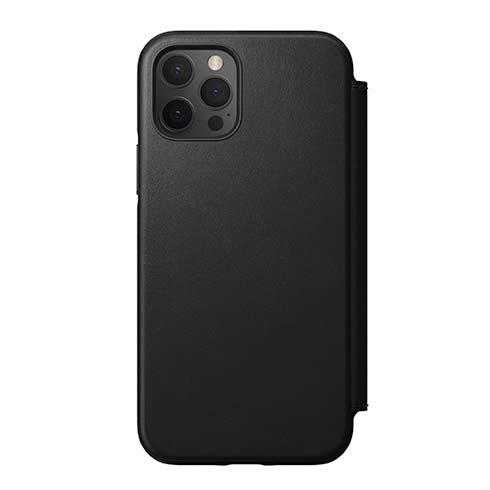 Púzdro Nomad Folio kožené flipové iPhone 12/12 Pro - čierne NM21g10H00