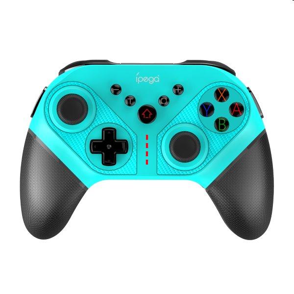 Bluetooth Gamepad iPega SW038B pre Nintendo Switch, cyan
