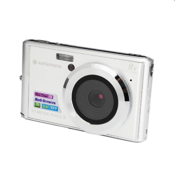 Fotoaparát AgfaPhoto Compact DC 5200, strieborný