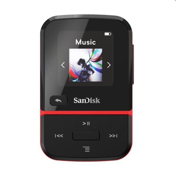 Prehrávač SanDisk MP3 Clip Sport Go 32 GB, červený