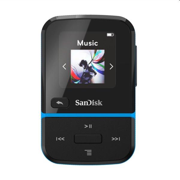 Prehrávač SanDisk MP3 Clip Sport Go 32 GB, modrý