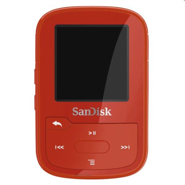 Prehrávač SanDisk MP3 Clip Sport Go Plus 16 GB, červený