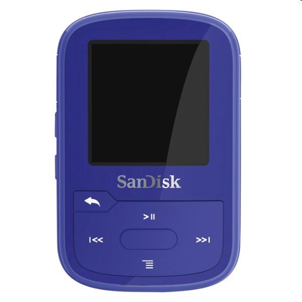 Prehrávač SanDisk MP3 Clip Sport Go Plus 16 GB, modrý