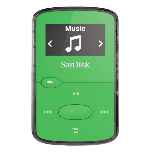Prehrávač SanDisk MP3 Sansa Clip JAM 8GB, zelený