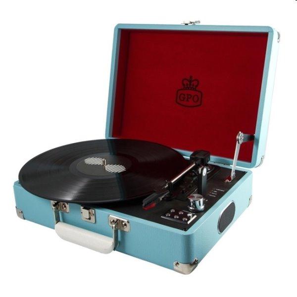 Gramofón GPO Attache, modrý