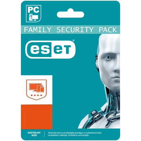 ESET Family Security Pack pre 4 zariadenia na 18 mesiacov SK (elektronická licencia)