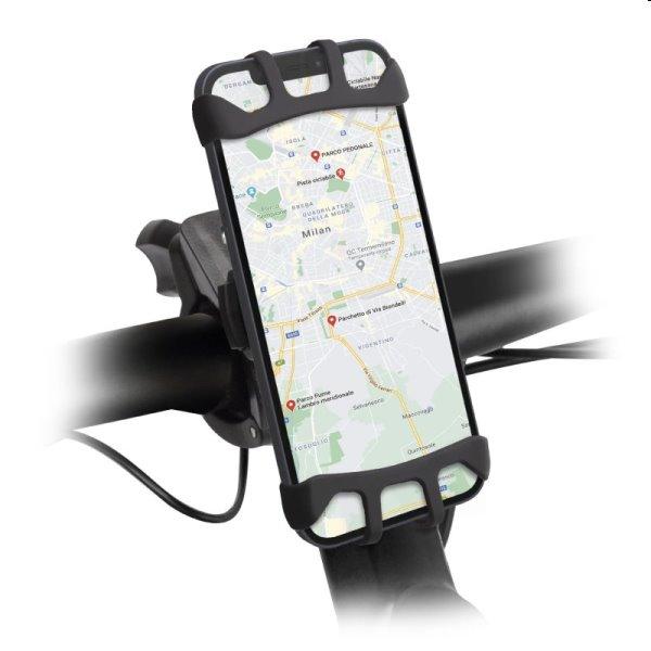 SBS Držiak E-Go 360 ° pre elektrické kolobežky a bicykle, čierny TEERIDEHOLD360