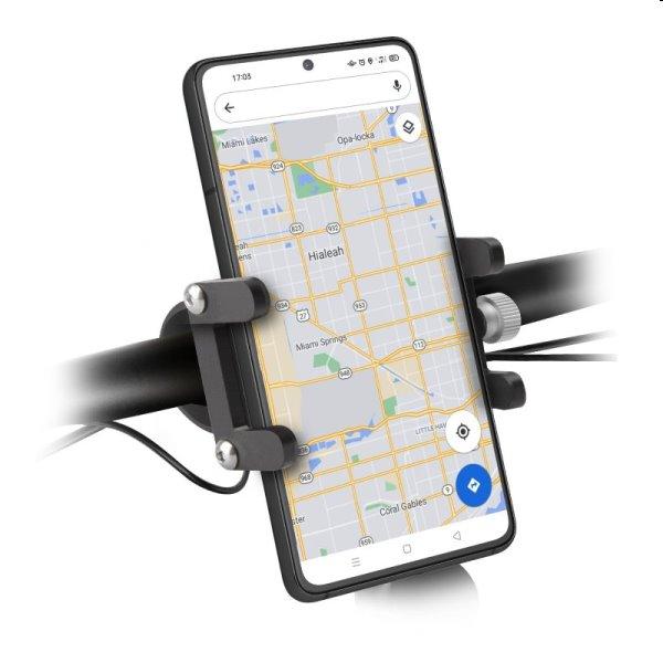 SBS Hliníkový držiak E-Go pre elektrické kolobežky a bicykle, čierny TEERIDEMETAL