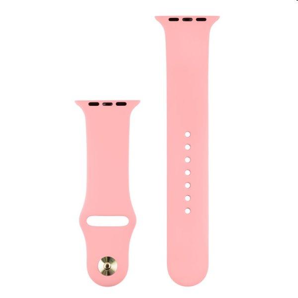 Silikónový remienok COTEetCI pre Apple Watch 38/40mm, svetloružová
