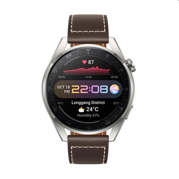 Huawei Watch 3 Pro, brown