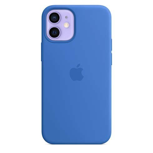 Apple iPhone 12 mini Silicone Case with MagSafe, capri blue MJYU3ZM/A