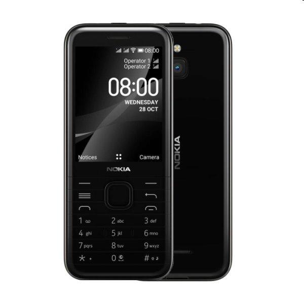 Nokia 8000, 4G, Dual SIM, black - OPENBOX (Rozbalený tovar s plnou zárukou)