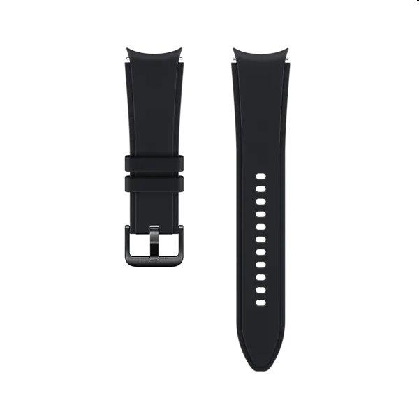 Náhradný športový remienok s ryhovaním pre Samsung Galaxy Watch4 (veľkosť S/M), black