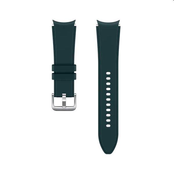 Náhradný športový remienok s ryhovaním pre Samsung Galaxy Watch4 (veľkosť S/M), green