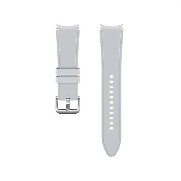 Náhradný športový remienok s ryhovaním pre Samsung Galaxy Watch4 (veľkosť S/M), silver