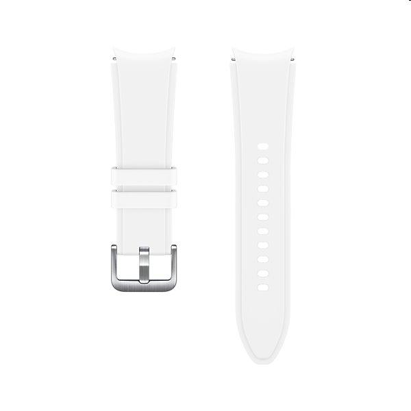Náhradný športový remienok s ryhovaním pre Samsung Galaxy Watch4 (veľkosť S/M), white