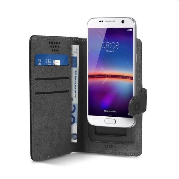 """Puzdro SBS Book Case Slide pre smartfóny do 5"""", čierne"""