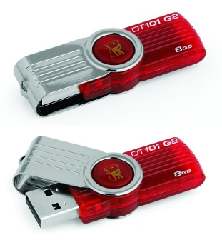 8GB Kingston USB DataTraveler 101 Gen 2 �erven�