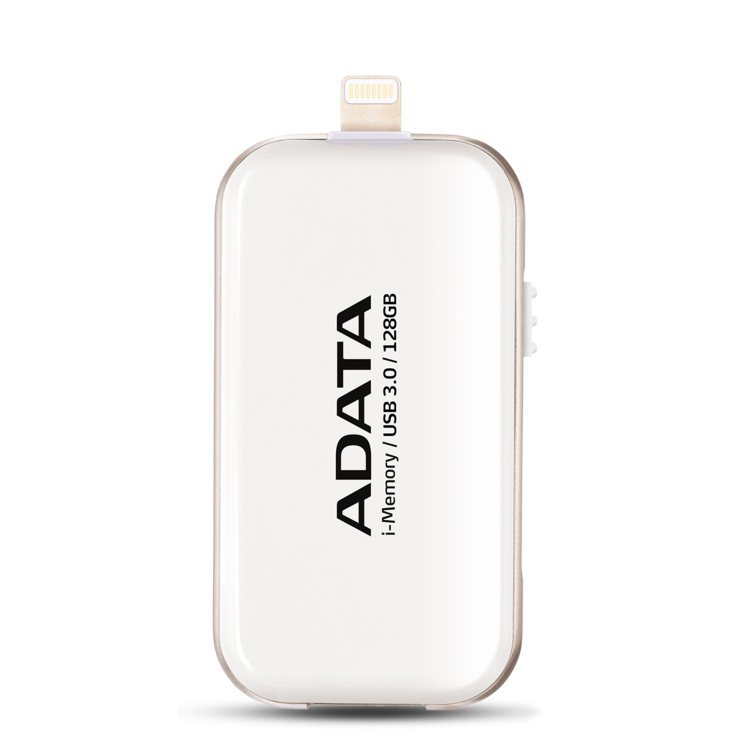 A-Data 128GB UE710 USB 3.0 i-memory pre Apple, White (AUE710-128G-CWH)