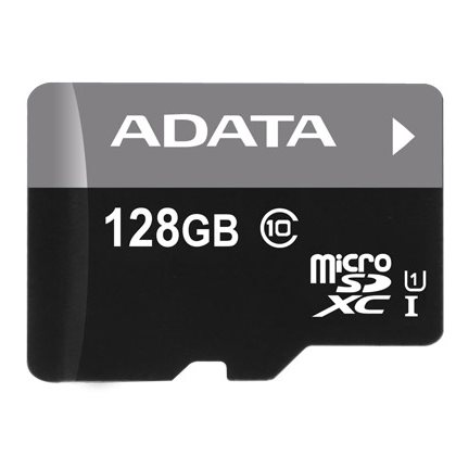 A-Data Micro SDXC Premier 128 GB + SD adapt�r, UHS-I, Class 10 - r�chlos� 30 MB/s (AUSDX128GUICL10-RA1)