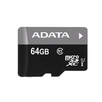A-Data Micro SDXC Premier 64GB + SD adapt�r, UHS-I, Class 10 - r�chlos� 30 MB/s (AUSDX64GUICL10-RA1)