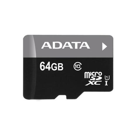 A-Data Micro SDXC Premier 64GB + SD adaptér, UHS-I, Class 10 - rýchlosť 30 MB/s (AUSDX64GUICL10-RA1)