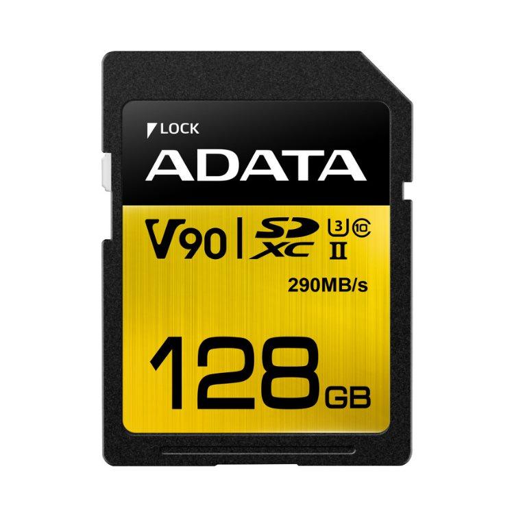 A-Data Premier ONE SDXC UHS-II U3 128GB | Class 10, rýchlosť 290/260MB/s (ASDX128GUII3CL10-C)