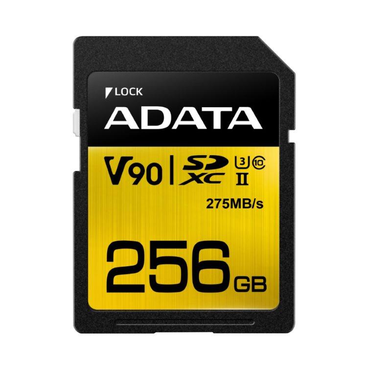 A-Data Premier ONE SDXC UHS-II U3 256GB | Class 10, rýchlosť 275/155MB/s (ASDX256GUII3CL10-C)