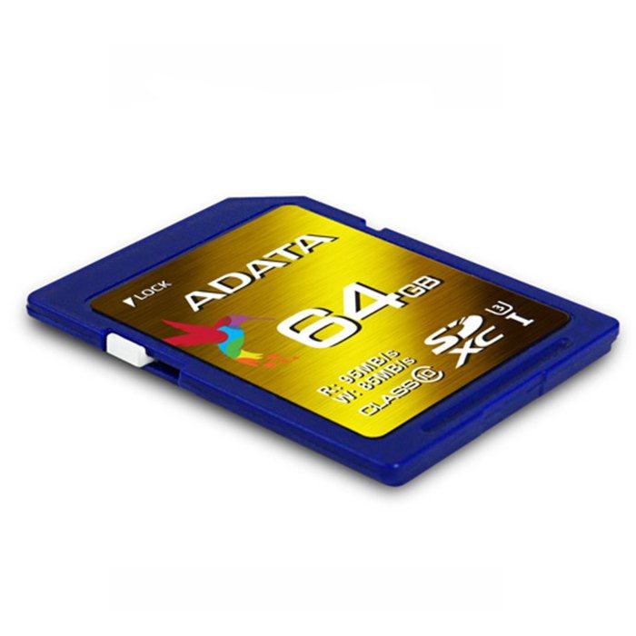 A-Data Secure Digital SDXC UHS-I U3 64GB | XPG, Class 10, rýchlosť až 95MB/s